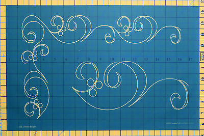 Quilting Full Line Stencil ALONG THE WAY SWIRL BORDER Reusable for Quilts use...