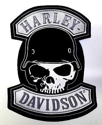 LARGE Harley Davidson SPIKE Skull Patch (back emblem)