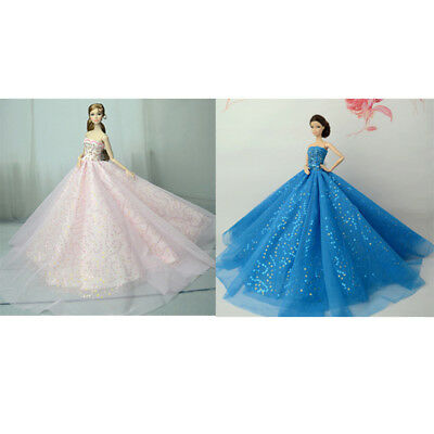 Handmade doll royalty princess dress for  1/6 dolls party gown clothes ZB