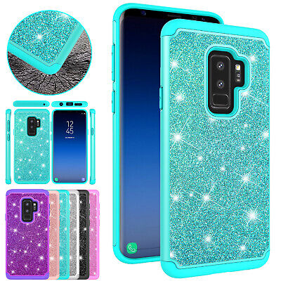 Bling Glitter Shockproof Hybrid Rubber Tough Case Cover For Samsung Note 9 S8 S9