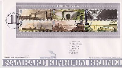 Tallents Pmk Gb Royal Mail Fdc First Day Cover 2006 Brunel Stamp Sheet