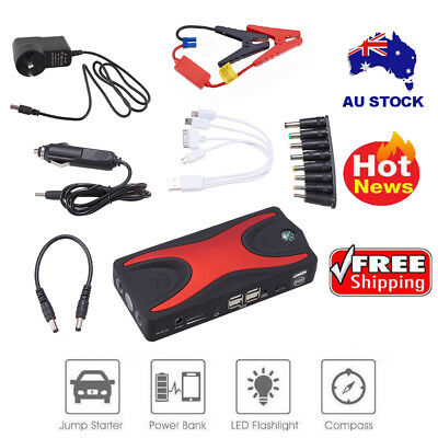 79800mAh 12V Vehicle Car Jump Starter Booster Battery Power Bank 4USB Charger AU