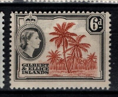 Gilbert and Ellice Islands 1964 1965 QEII Definitive 6d WMK 12 SG 86 Mint MH