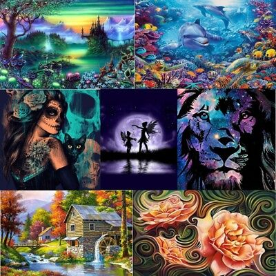 5D DIY Full Drill Diamond Painting Embroidery Cross Paint By Number Kit Unframed