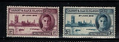 Gilbert and Ellice Islands 1946 Victory SG 55-56 Mint MH