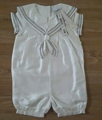 Next Signature Baby Boys Ivory Sailor All In One Suit Age 12/18 Months Bnwt