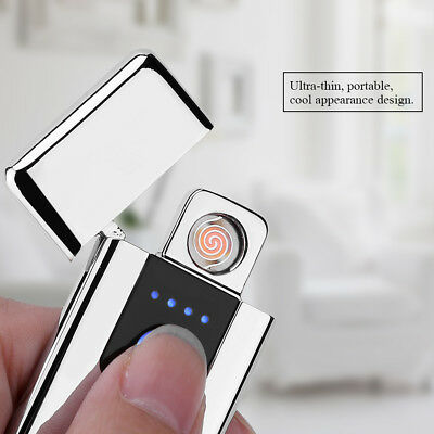 Portable Electric USB Rechargeable Flameless Windproof Cigarette Touch Lighter