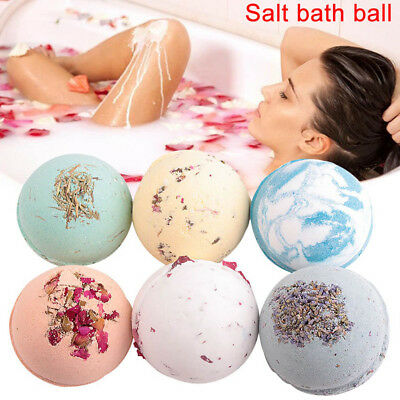 6 Scent Natural Salt Bath Ball Bubble Bath Bomb Bath Ball Exfoliating 100g