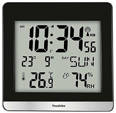 Large Jumbo LCD Radio Controlled Silent Wall Clock  UK & Ireland Version  with