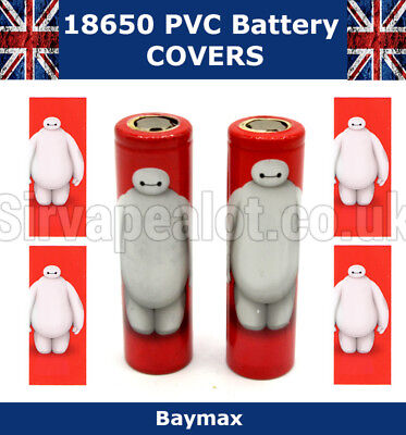 5x Baymax 18650 Battery wraps PVC Heat Shrink covers battery LG Efest VAPE