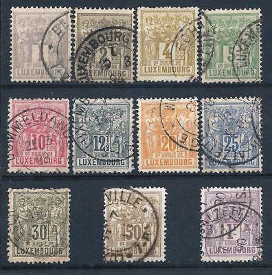 Luxembourg 1882-84 Selection of Agriculture & Trade to 1fr Used CV £130+