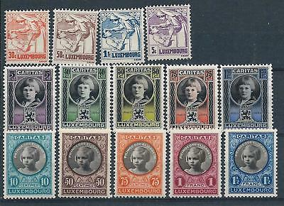 Luxembourg 1925 Anti-Tuberculosis & 1926-27 Child Welfare sets Mint Hinged