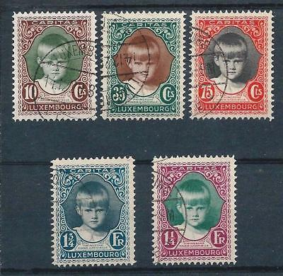 Luxembourg 1929 Child Welfare set Used (CTO?) CV £90
