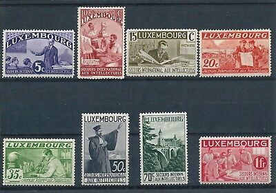Luxembourg 1935 Intellectuels Relief Fund Selection to 1fr Mint Hinged CV £23