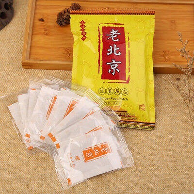 10/50x Ginger Detox Foot Pads Patches With Adhesive Fit Health Care HS5U