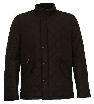 Brand New Men's Barbour Powell Black Quilted Coat