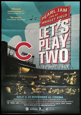 "PEARL JAM LET'S PLAY TWO Original Movie Music Poster 39x55"" LIVE WRIGLEY FIELD"
