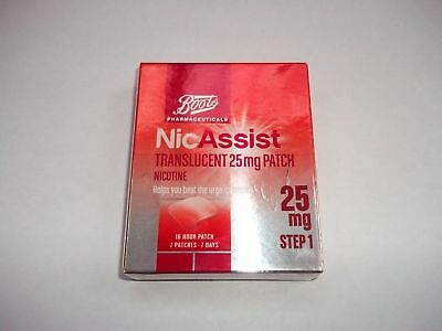 NICASSIST 10mg / 15mg / 25mg Patches X 7 - same manufacturer as nicorette
