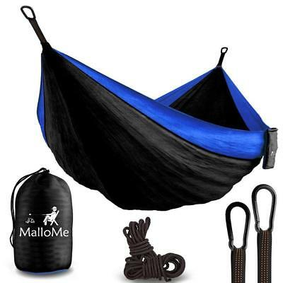 Double Portable Camping Hammock & Straps - Parachute Tree Set with Max 1000...