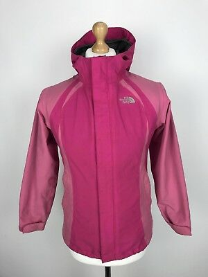 THE NORTH FACE Girls HYVENT Jacket Coat | Hooded Waterproof | Large L 14-16 Pink