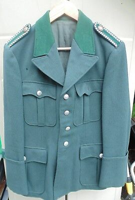 Green Wool Military Jacket Army WW2 Stage Costume Re enactment Theatre Chest 38