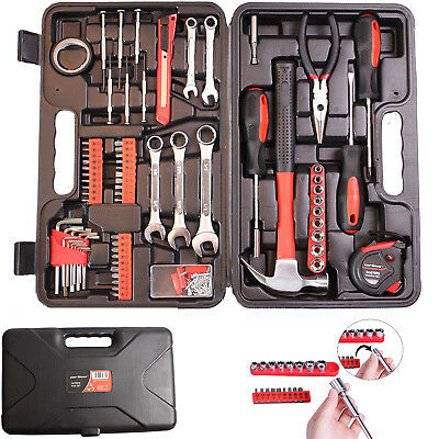 Mechanic Tool Set Kit Hand Tools Socket Screwdriver Wrench Home Household Box
