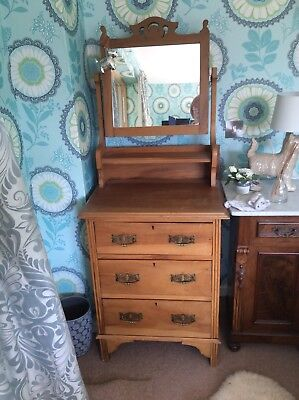Edwardian Dressing Table Chest Of Drawers.