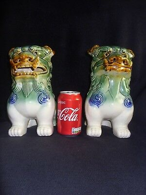 Chinese foo dogs - pair - X large