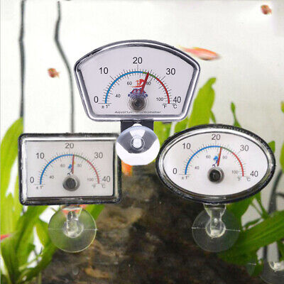 Fish Tank Aquarium Thermometer Pointer Temperature Dial Submersible Suction Cup