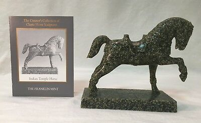 """Franklin Mint """"The Indian Temple"""" Curator's Collection Miniature Horse"""