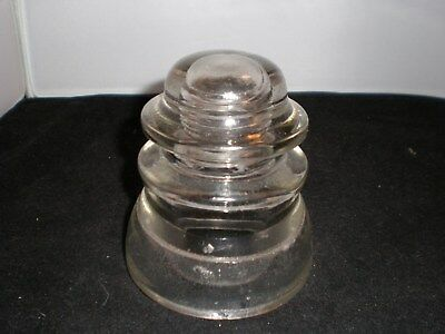 VINTAGE GLASS INSULATOR, Whitall Tatum No 1 MADE IN THE USA  ~ 80 46~