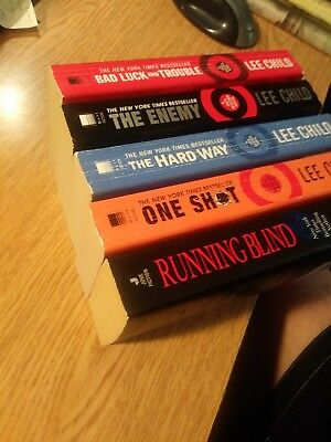 Lee Child lot of 5 Jack Reacher books PB very sharp Complete your Collection