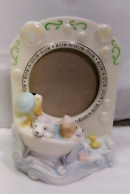 Hallmark Retired 2005 Rub A Dub Dub Bath Time Baby Nursery Infant Photo Frame