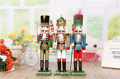 Christmas Wooden Nutcracker Home Walnut Soldiers Art Ornament Gifts Party Decor