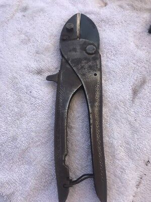 Antique Secateurs Pruning Shears Rolcut Brass And Steel