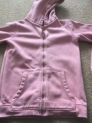 Fat Face (age 10-11yrs) Pink hooded zipped hoodie