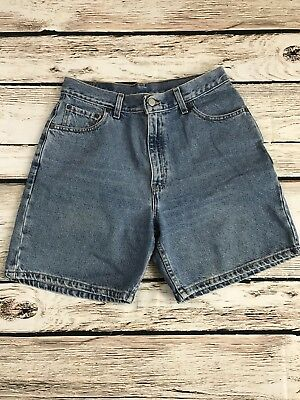 Vintage Levis 550 Relaxed Fit High Waist Denim Mom Shorts Women 12 Mis USA