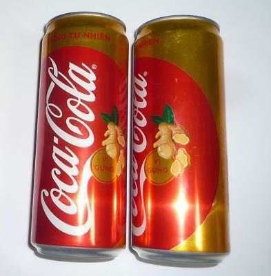 """Coca Cola can VIETNAM Collector PLUS GINGER COLA 6"""" Tall 330ml Promo Asia"""