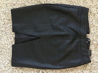 H&M Faux Leather Skirt Size 8