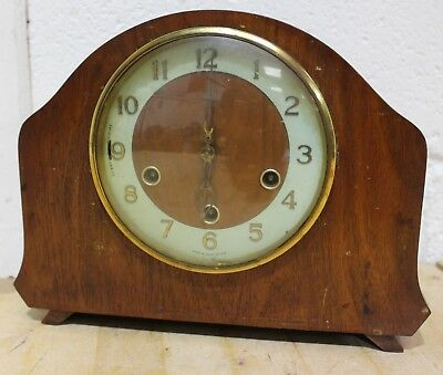 Vintage SMITHS ENFIELD 1950's Art Deco Style WOODEN Mantel Clock - 250