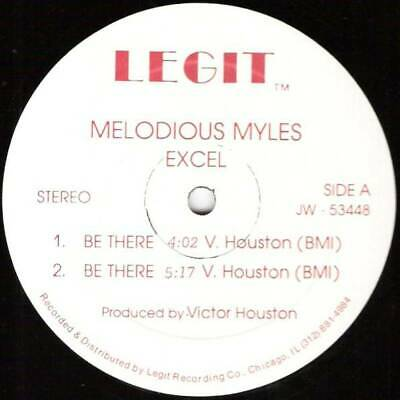 """Melodious Myles / Excel Be There 12"""" VINYL Legit 1988"""