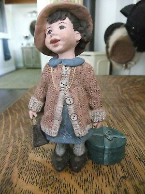 "Vintage Sarah's Attic Granny's Favorites ""Katie Shopping"" Girl Figurine Ltd. Ed."
