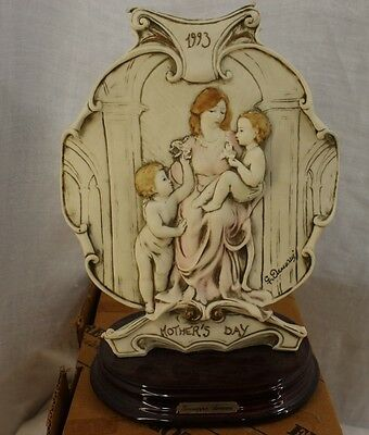 Vintage Giuseppe Armani 1993 Mothers Day Plaque Figurine With Box Made in Italy