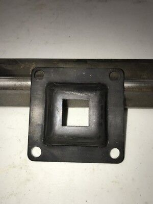 "1"" x 1"" Steel Square Tubing Flange W/4 bolt holes (RAW)"