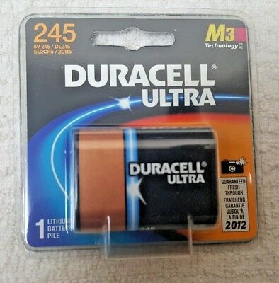 2CR5 Duracell Ultra 245 Photo Lithium Battery