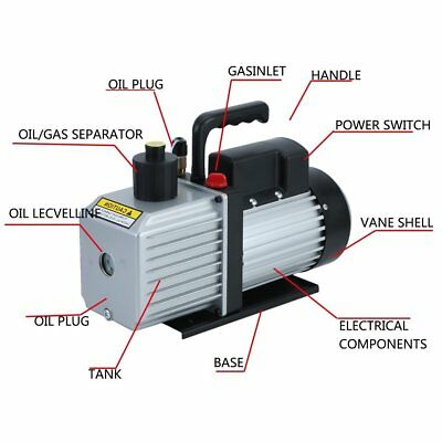 Vacuum Pump Single Stages Air Conditioning Refrigeration Tools Manifold Gauges