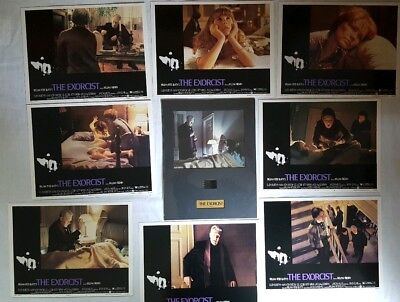 The Exorcist 1974 • Linda Blair • Complete 8 Lobby Card Set • Senitype Frame