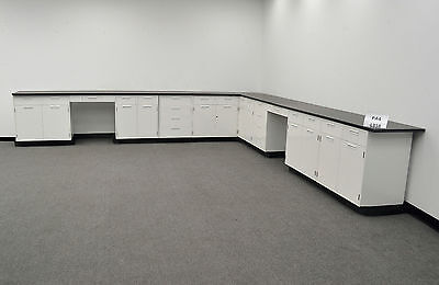 *NEW  -  28'  Hamilton Base Laboratory  Cabinets with Counter Tops (PA4-L358)