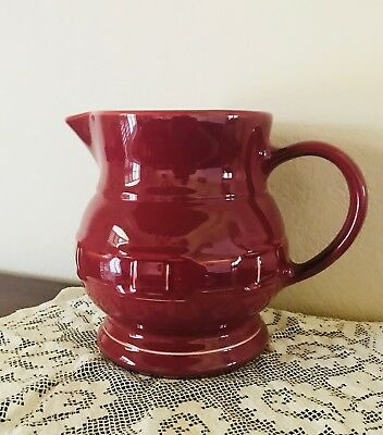 Pre-Owned Longaberger Woven Traditions Large Beverage Pitcher 2 QT PAPRIKA RED