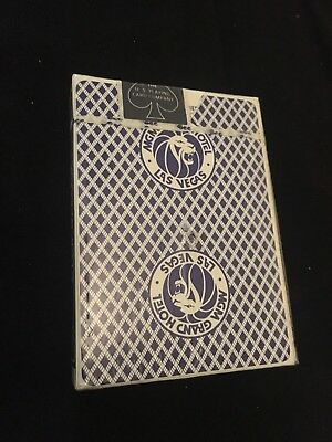 Vintage MGM Hotel Casino Playing Cards Las Vegas Sealed Deck    Hole In Center